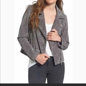 Levi's Grey Suede (Leather) Motorcycle Jacket - XL